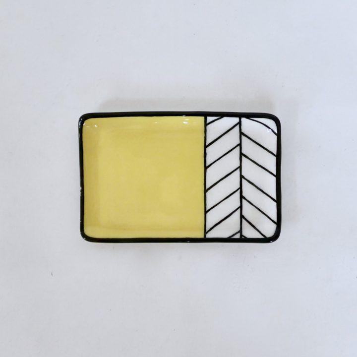 Sous-tasse jaune chevron