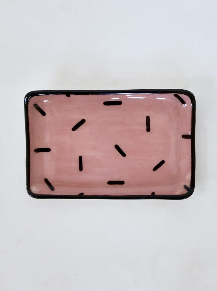 Sous-tasse rose confetti