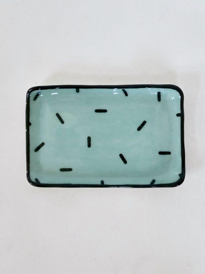 Sous-tasse céladon confetti