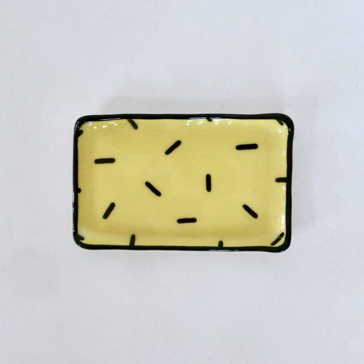 Sous-tasse jaune confetti