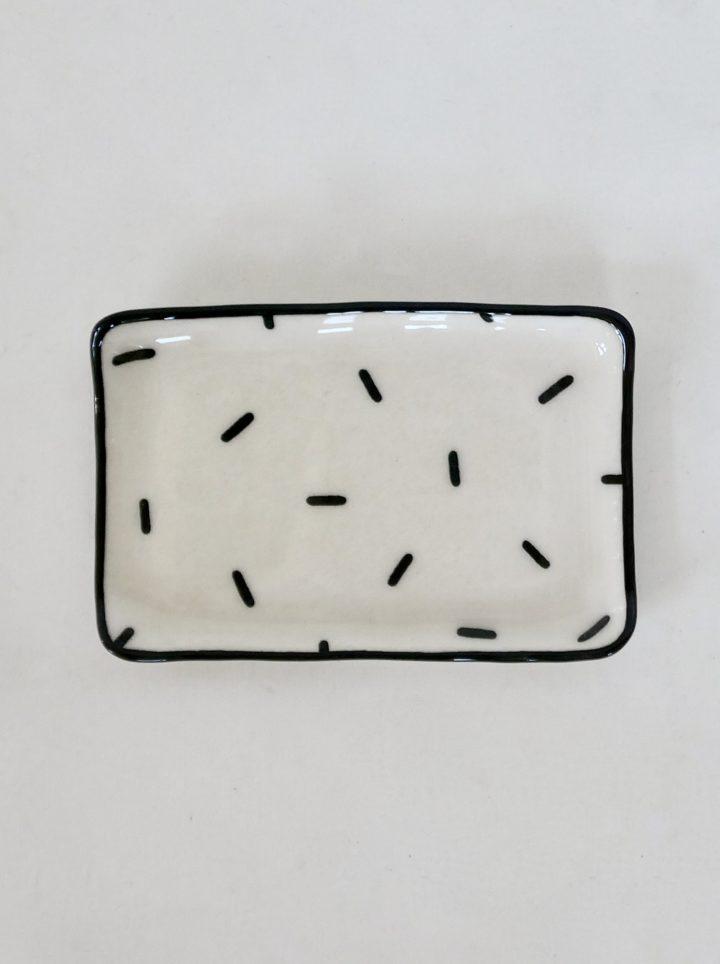 Sous-tasse blanche confetti
