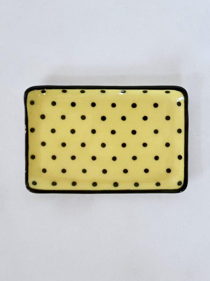 Sous-tasse jaune pois
