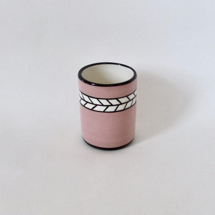 Mug artisanal rose